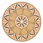 Flooring inlay: R20 Wood Medallion