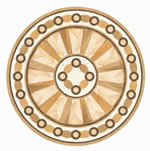 Flooring inlay: R22 Wood Medallion