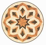 Flooring inlay: R11 Wood Medallion