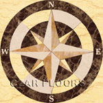 Flooring inlay:  SC2-Square Stone Medallion