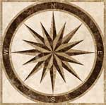 Flooring inlay:  SPC3-Square Stone Medallion