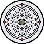 Flooring inlay:  Venice-II Stone Medallion
