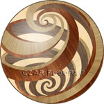 Flooring inlay:  Vortex Wood Medallion