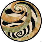 Image of Vortex-Green Stone Medallion