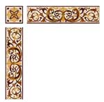 Flooring inlay:  SB203A Stone Medallion