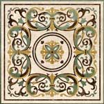 Flooring inlay:  Tito-Light Stone Medallion