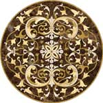 Flooring inlay:  Como Stone Medallion