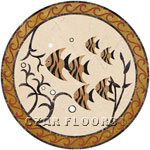 Flooring inlay: Aquarium Stone Medallion