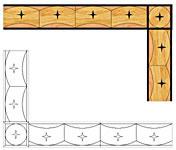 Flooring inlay: B14 Wood Border