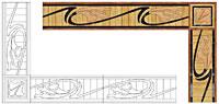 Flooring inlay: B17 Wood Border