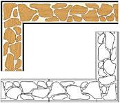 Flooring inlay: B22 Wood Border