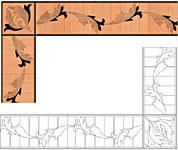 Flooring inlay: B25 Wood Border