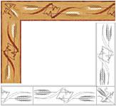 Flooring inlay: B29 Wood Border