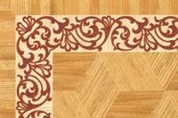 Flooring inlay: BA106 Wood Border