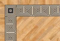 Flooring inlay: BA085 Wood Border