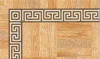 Flooring inlay: BA086 Wood Border