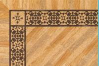 Flooring inlay: BA092 Wood Border