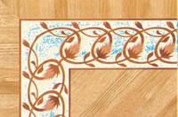 Flooring inlay: BA093 Wood Border
