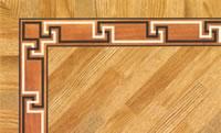 Flooring inlay: BA073 Wood Border