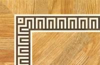 Flooring inlay: BA074 Wood Border