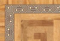 Flooring inlay: BA075 Wood Border