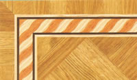 Flooring inlay: BA069 Wood Border