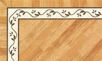 Flooring inlay: BA063 Wood Border