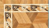 Flooring inlay: BA065 Wood Border