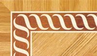 Flooring inlay: BA043 Wood Border