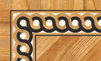 Flooring inlay: BA046 Wood Border