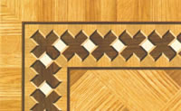 Flooring inlay: BA037 Wood Border