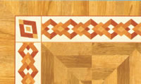 Flooring inlay: BA038 Wood Border