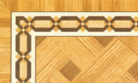 Flooring inlay: BA039 Wood Border