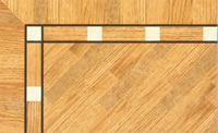Flooring inlay: BA042 Wood Border