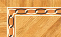 Flooring inlay: BA030 Wood Border