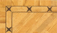 Flooring inlay: BA022 Wood Border