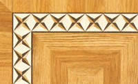 Flooring inlay: BA024 Wood Border