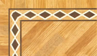 Flooring inlay: BA013 Wood Border