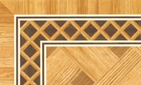 Flooring inlay: BA014 Wood Border