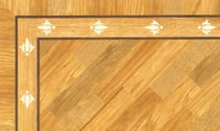Flooring inlay: BA015 Wood Border