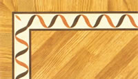 Flooring inlay: BA017 Wood Border