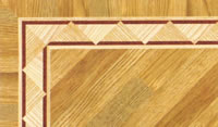 Flooring inlay: BA057 Wood Border