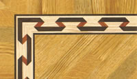Flooring inlay: BA058 Wood Border