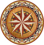 Flooring inlay:  Callisto Stone Medallion