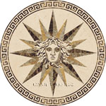Flooring inlay: Meduza Stone Medallion