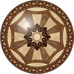 Flooring inlay:  R100 Wood Medallion