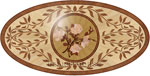 Flooring inlay:  P26 Wood Medallion