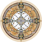 Flooring inlay:  Geneva Stone Medallion