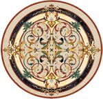 Flooring inlay:  Lucerne Stone Medallion