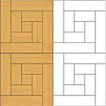 Flooring inlay: M17 Parquet